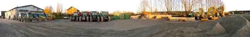 Panoramablick auf unseren Fuhrpark